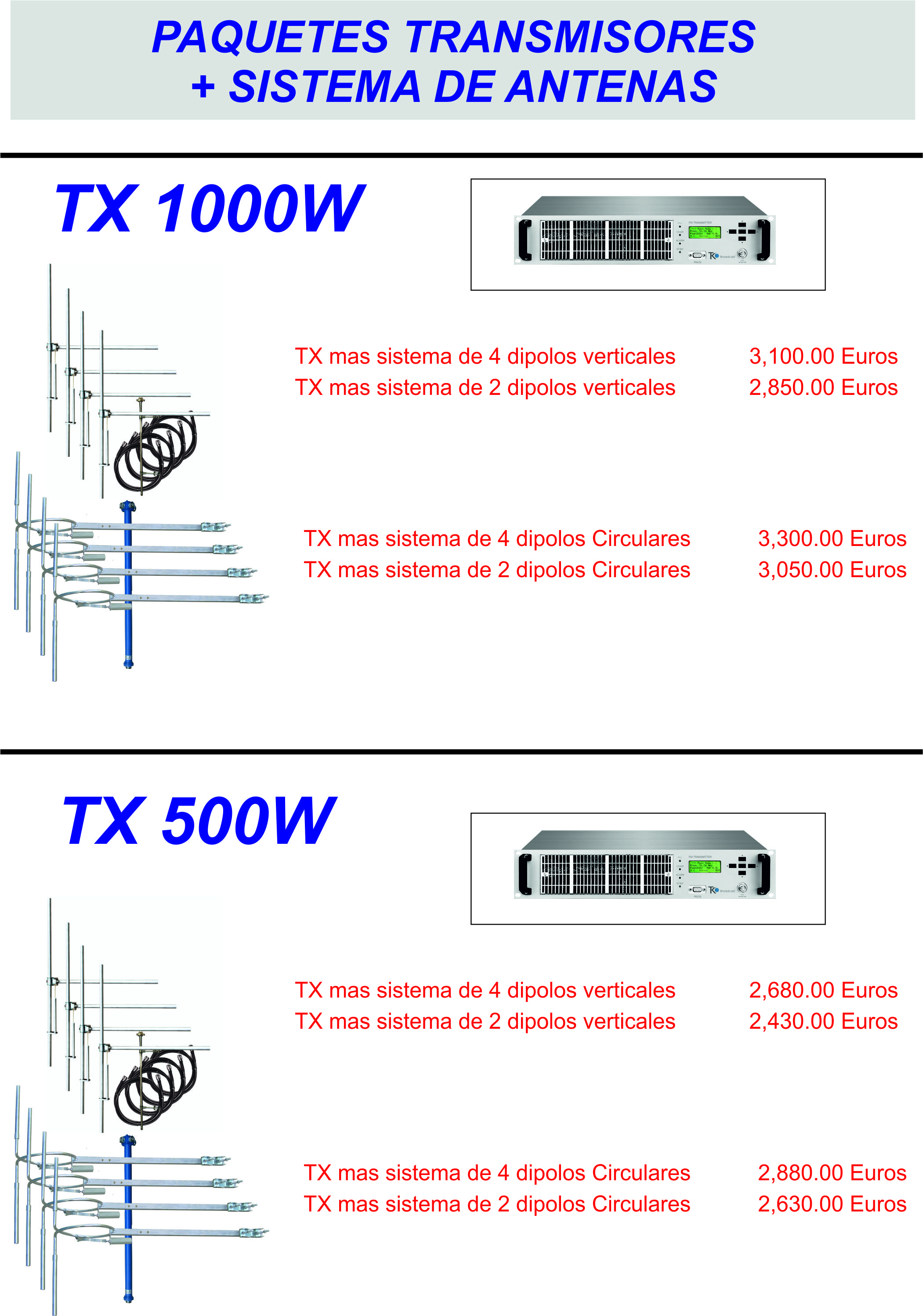 Transmision and antenna system deal
